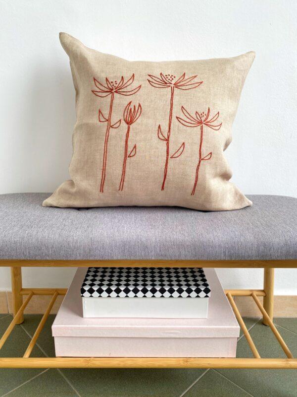Vezena jastučnica cvijeće